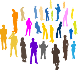 clip art of crowd of people