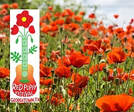 red poppy festival logo and photo